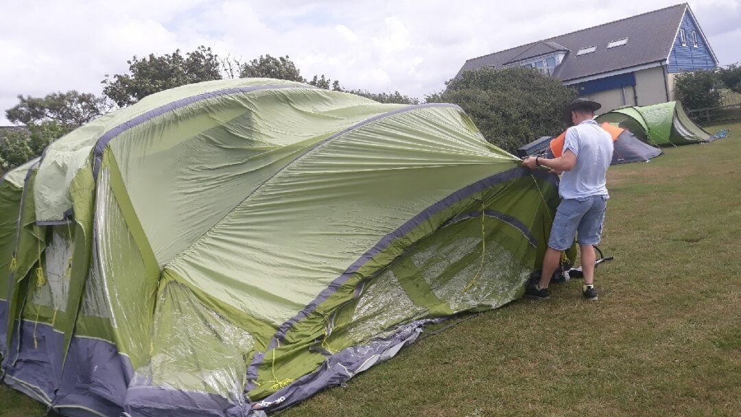 Camping nightmares - windy conditions